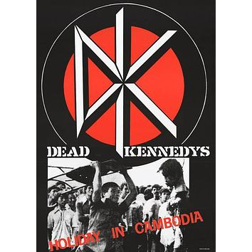 Dead Kennedys Holiday in Cambodia Poster 24x36