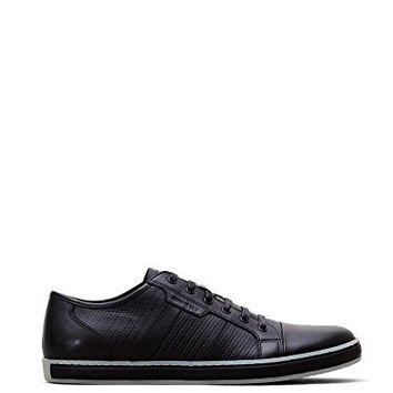 Kenneth Cole New York Men's Brand Wagon Black Leather Sneaker 10 M US