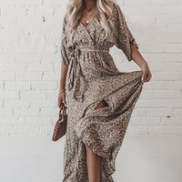 Stop The Paparazzi Olive Floral Print Maxi Dress