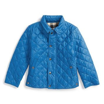 Boy's Burberry 'Luke' Quilted Jacket ,