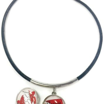 "SCUBA Rescue Diver and Turtle on Dive Flag 15"" Necklace with Extra 18MM - 20 MM Snap Jewelry Char8"
