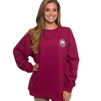 Southern Shirt Company Raglan Fleece Sweatshirt in Ruby 2C001-222
