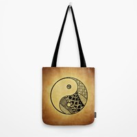 Ying Yang Tote Bag by WonderfulDreamPicture