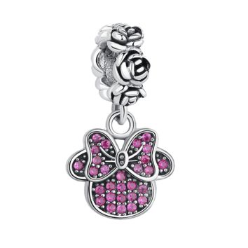 Minnie Mouse dangle fit Pandora Bracelet