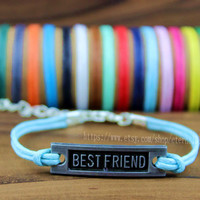Discount 50% - Best friend bracelet, wax rope bracelet, color can be adjustable, The best gift