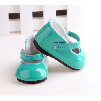 "Free shipping Hot 2016 new style popular ""18 inch heels 899 American girl doll shoes leathershoes 1267"