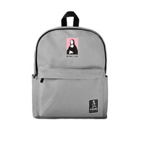 Mona Lisa Canvas Backpack