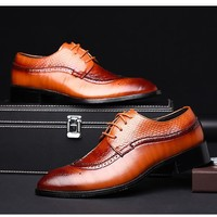 Men's High Quality Men Oxfords Up To Size 14 In 3 Colors