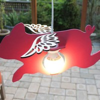 Flying Pig Lamp by iTagStudios on Etsy