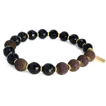 Onyx Essential Oil Bracelet