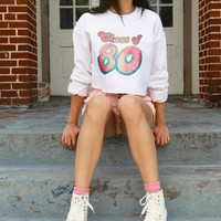Class of 80 Vintage Cropped Sweatshirt
