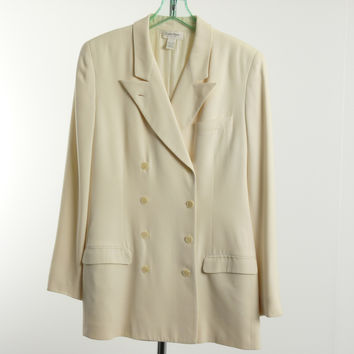Vintage Calvin Klein Collection Blazer Size 10