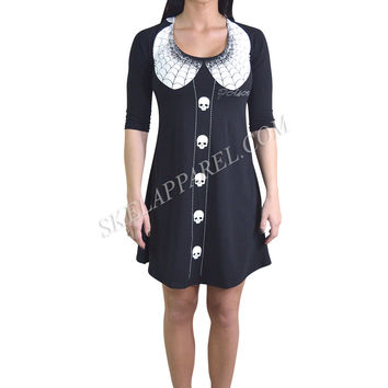 Kreepsville 666 Gothic Lolita Thursday Poison Mini Tunic Dress