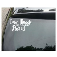 Baby Muggle on Board Cute Harry Potter Funny Car Decal Sticker