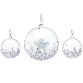 Swarovski Crystal Christmas Ball Ornament Set 2015