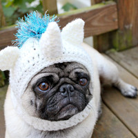 Magical Unicorn Dog Hat / Made to Order by Sweethoots on Etsy