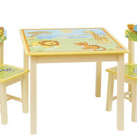 Guidecraft Savanna Smiles Table and Chairs Set - G86802