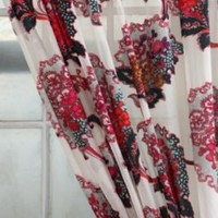 Jewel Floral Burnout Curtain