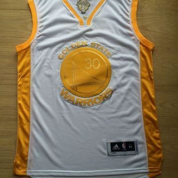 KUYOU Golden State Warriors Stephen Curry Champion Edition White Jersey