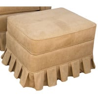 Angel Song 221821172 Faux Suede Camel Adult Continental Gliding Ottoman