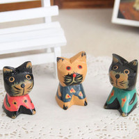 Animal Cats Wooden Decoration Handcrafts Home Decor [6281734854]