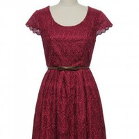 Maroon-ed at the Museum Dress
