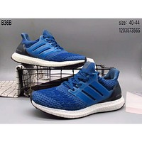 Adidas popcorn knit trend sports shoes F-A36H-MY Blue