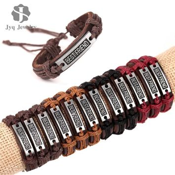 Unisex Pure Leather Friendship Bracelets Good for Gifts