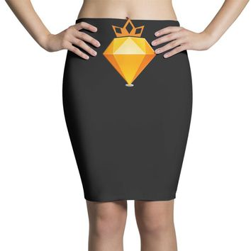 KING OF THE GOLD Pencil Skirts
