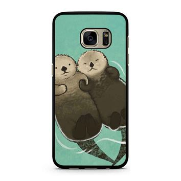 Significant Otters Otters Holding Hands Samsung Galaxy S7 Case