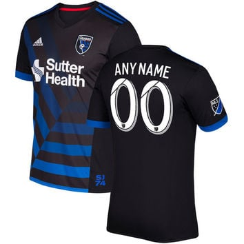 San Jose Earthquakes 2018 Primary Soccer MLS Custom Jersey - Black