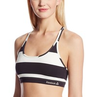 Reebok Women's Studio Stripe Short Bra Top