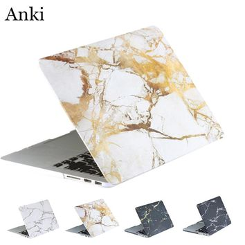 Marble Grain Matte Hard Laptop Cover Case for Apple Mac MacBook Air 11 13 / Pro 13 15 / Retina 12 Houese Shell Laptop Coque