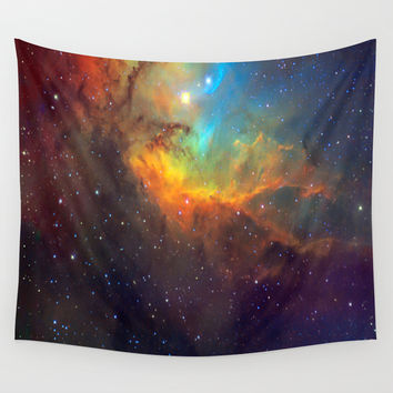 Tulip Galaxy stars Wall Tapestry by Laureenr