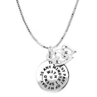 "Sterling Silver ""The Best Part of My Day"" Reversible Charm Necklace, 18"""