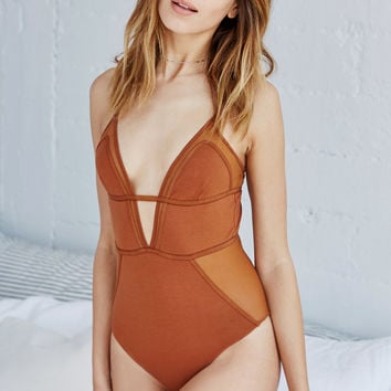 LA Hearts Seamed Mesh Insets Bodysuit at PacSun.com