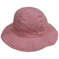 Baby & Toddler Adjustable Sun Hat - Swiss Dots Pink