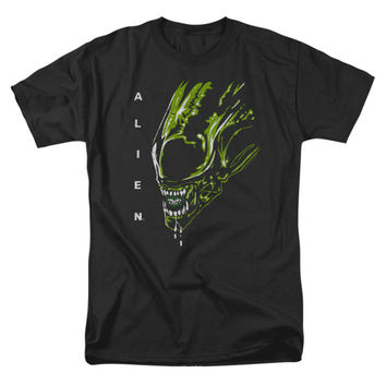 Alien Men's  Acid Drool T-shirt Black Rockabilia