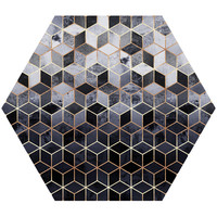 Daydream Cubes Hex Wall Decal