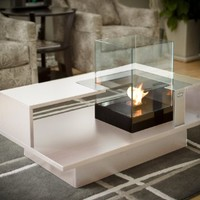 Decorpro Level Compact Coffee Table, White