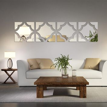 Geometric Mirrored Acrylic Wall Sticker Decor