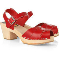 Swedish Hasbeens | High leather clog sandals | NET-A-PORTER.COM