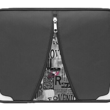 Waterproof Laptop Sleeve Case For All 13-Inch PU Leather Laptop Bag BLACK