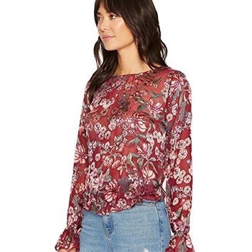For Love and Lemons Flora Button Back Blouse