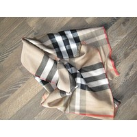 BURBERRY long wool/ silk gauze SCARF