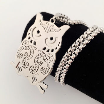 Stylish Shiny Jewelry New Arrival Gift Owl Hip-hop Club Necklace [9095359815]