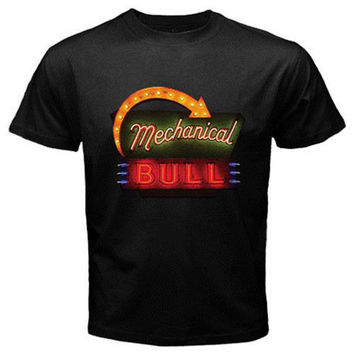 Kings Of Leon MECHANICAL BULL White Ringer Black T-Shirt S-XL