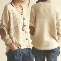 Knit sweaters elbow patches BB1028CB