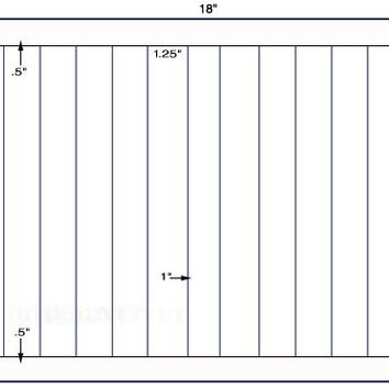 US5618D-1.25'' x 11''-12 up Label on a 12'' x 18'' label sheet.