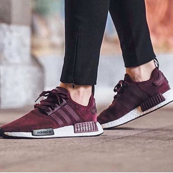 Adidas NMD R1 Burgundy shoes